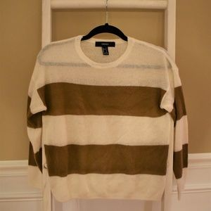 Forever 21 Striped Sweater Small